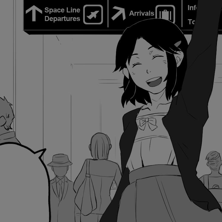 『A Long Goodbye』:13ページ/短編習作