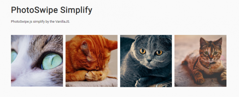 Photoswipe Simplify.js